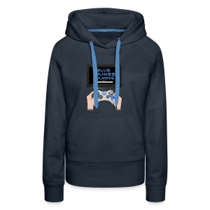 Blue Thumbs Gaming: Gamepad Logo - Women's Premium Hoodie