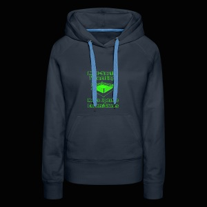 Mid-South Wrestling News Neon/Lime Green - Women's Premium Hoodie