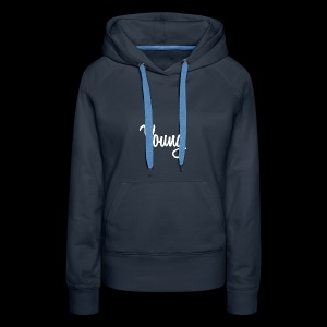 Simple Young Shirt - White Logo - Women's Premium Hoodie