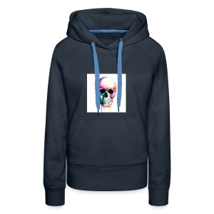 Colourful skull - Women's Premium Hoodie