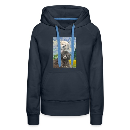 Morty and Wonton - Dogs of Modern Art - Women's Premium Hoodie
