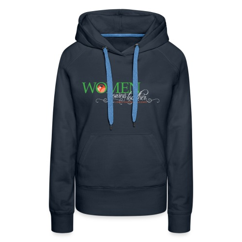 WGT FINAL Logo White Words - Women's Premium Hoodie