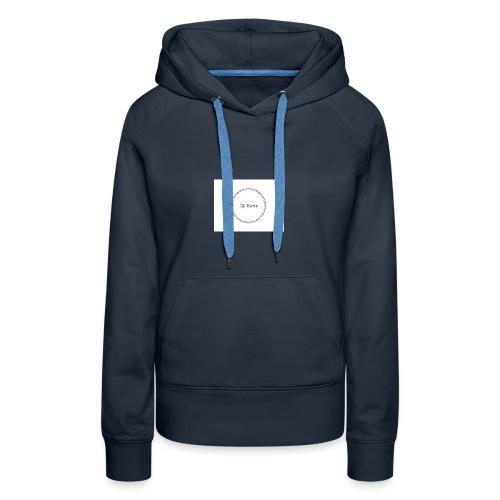 Blue Ring Volleyball (Katie) design logo - Women's Premium Hoodie