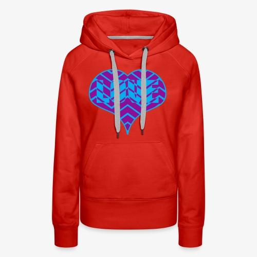 CHEVRON LOVE HEART - Women's Premium Hoodie
