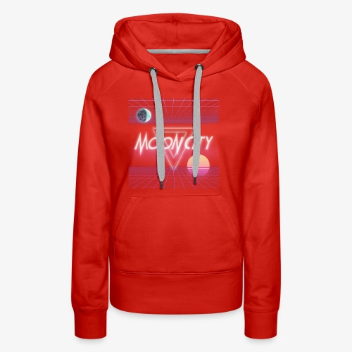 Moon City Retrogrid - Women's Premium Hoodie