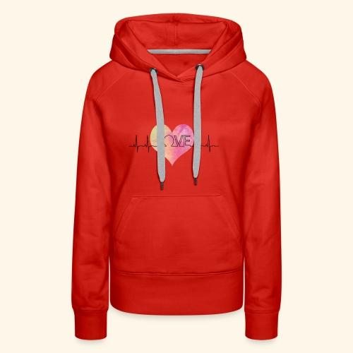 Love Makes My Heart Beat - Women's Premium Hoodie