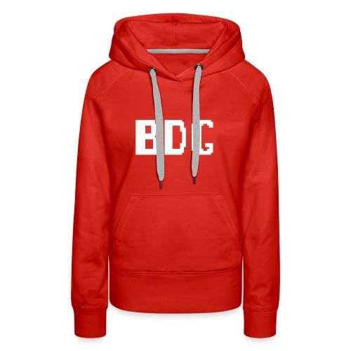 BDG 8-Bit Design White - Women's Premium Hoodie