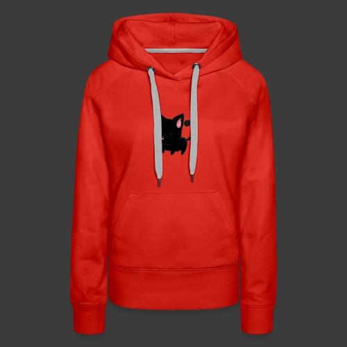black cat hoodie - Women's Premium Hoodie