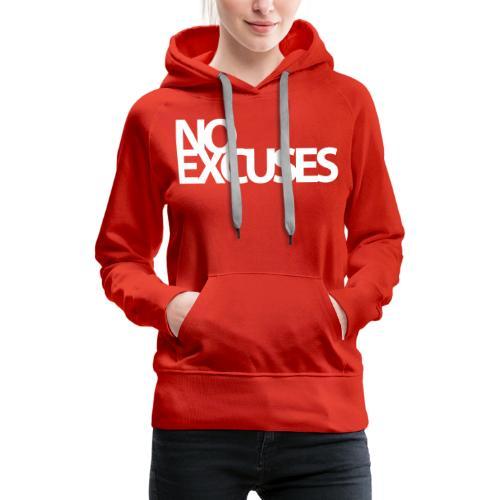 No Excuses Gym Motivation - Women's Premium Hoodie