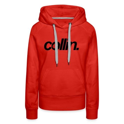 Collin. (Black w/ Rose) - Women's Premium Hoodie