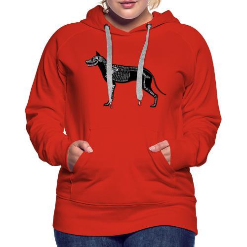 Skeleton Dog - Women's Premium Hoodie