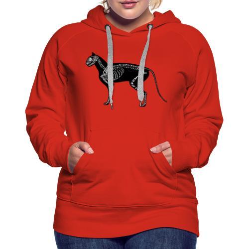 Skeleton Cat - Women's Premium Hoodie