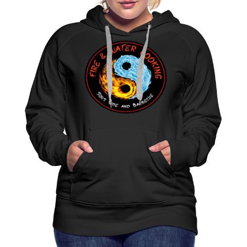 Fire & Water Cooking Full Sized Logo - Women's Premium Hoodie
