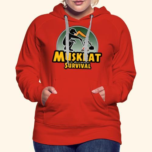 Muskrat round logo - Women's Premium Hoodie