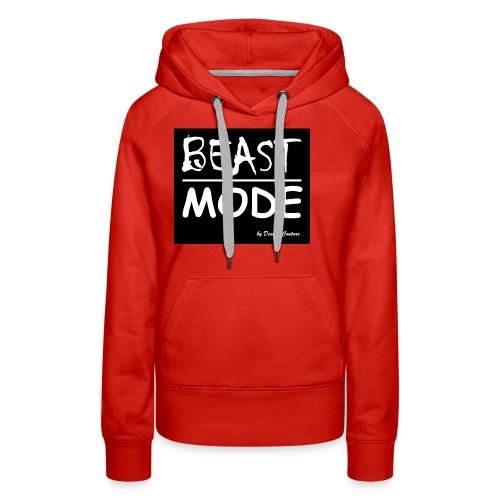 MODE, BEAST-WHITE - Women's Premium Hoodie