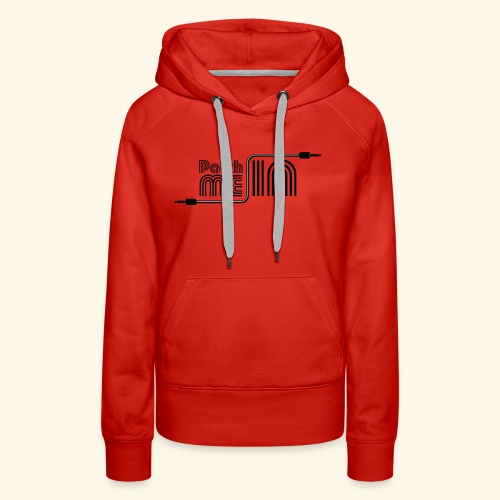 Patch Me In - Black Logo - Women's Premium Hoodie