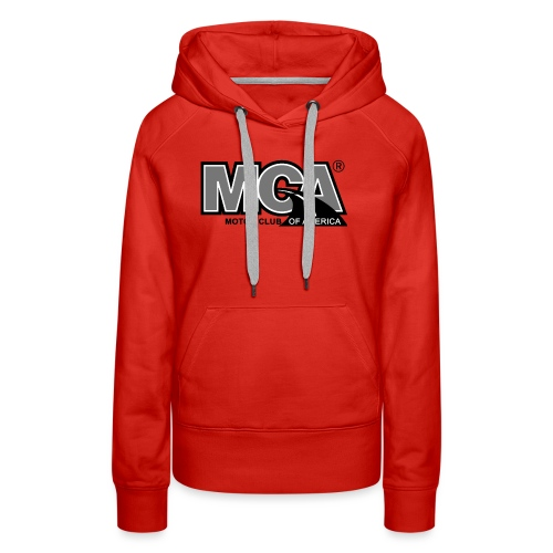 MCA Logo WBG Transparent BLACK WHITE TITLEfw fw pn - Women's Premium Hoodie