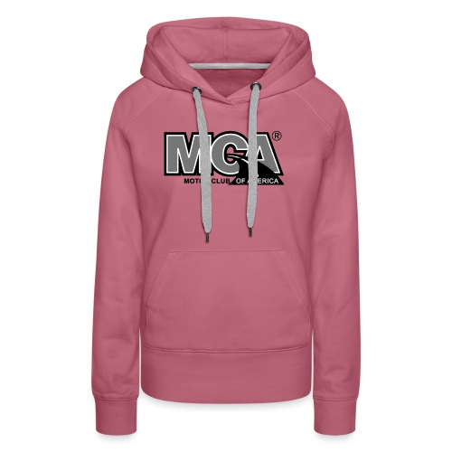 MCA Logo WBG Transparent BLACK WHITE TITLEfw fw pn - Women's Premium Hoodie