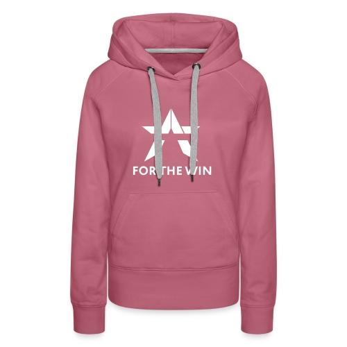 For The Win Red & Black Merch - Women's Premium Hoodie