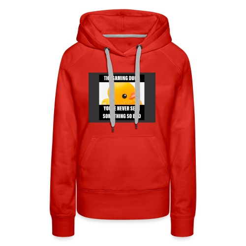 The Gaming Duck meme - Women's Premium Hoodie