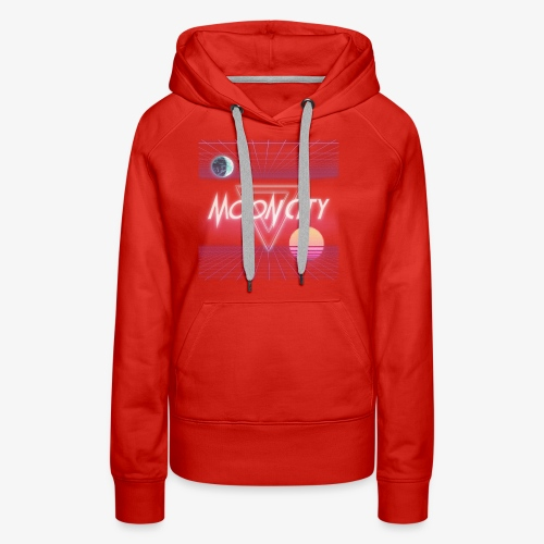 Moon City Retrogrid - Women's Premium Hoodie