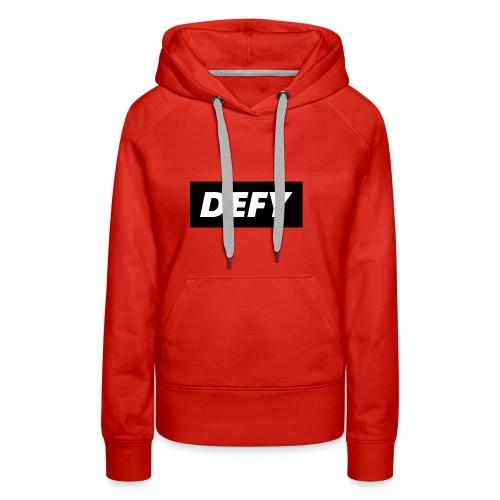 defy logo - Women's Premium Hoodie