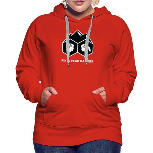 Pikes Peak Gamers Logo (Solid Black) - Women's Premium Hoodie