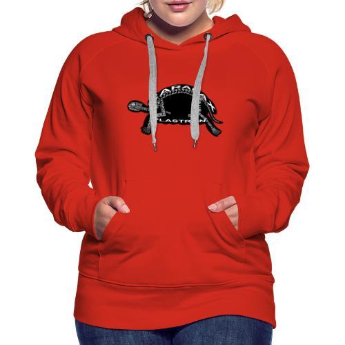 Skeleton Turtle - Women's Premium Hoodie