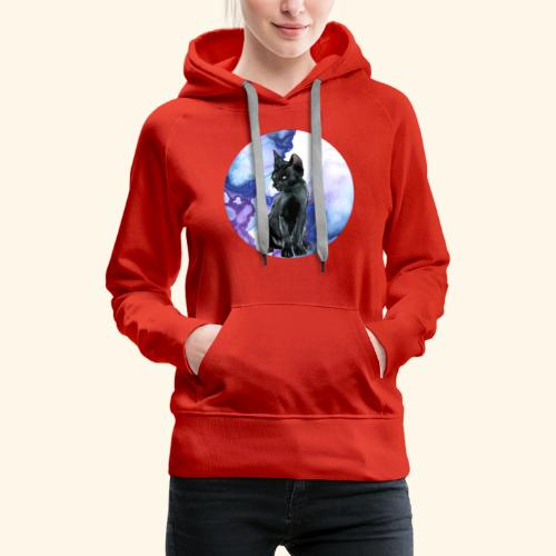 world of cats Watercolor Design - Women's Premium Hoodie
