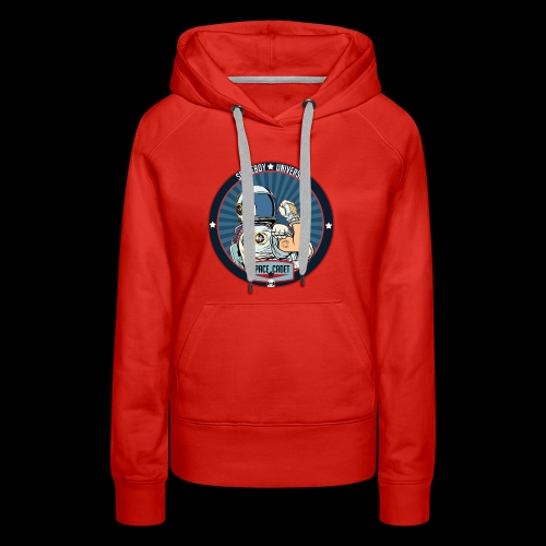 Space Cadet Can Do Badge - Women's Premium Hoodie