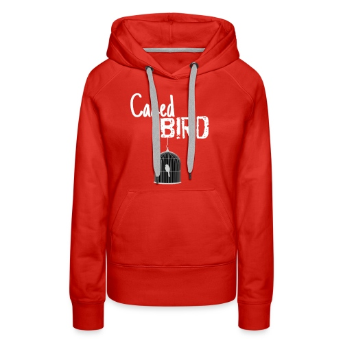 Caged Bird Abstract Design - Women's Premium Hoodie