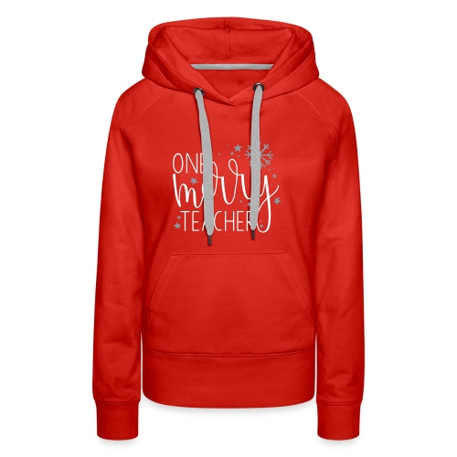 One Merry Teacher Christmas Teacher T-Shirt - Women's Premium Hoodie