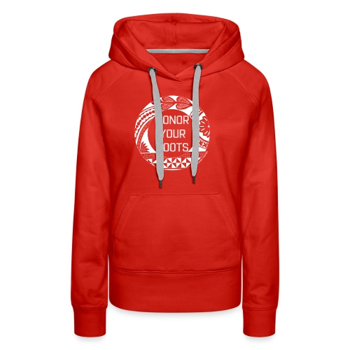 Honor Your Roots (White) - Women's Premium Hoodie