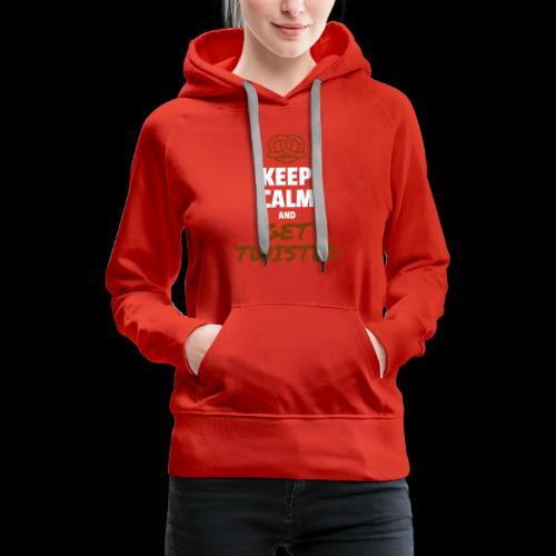 Keep Calm and Get Twisted Pretzel - Women's Premium Hoodie