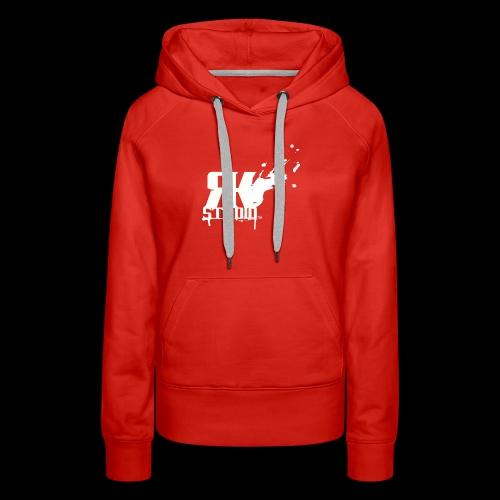 RKStudio White Logo Version - Women's Premium Hoodie