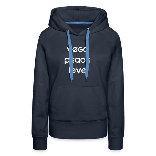 Yoga Peace Love - Women's Premium Hoodie