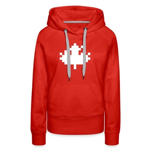 Pixel Maple Leaf - Women's Premium Hoodie