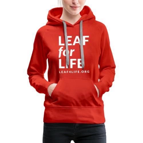 leaf4life logo red - Women's Premium Hoodie