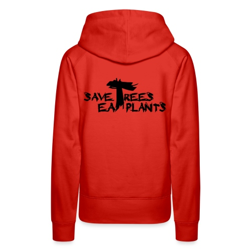 Eat plants, black - Women's Premium Hoodie