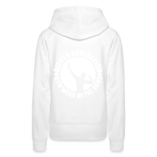 Ripped Generation Gym Wear of the Gods Badge Logo - Women's Premium Hoodie