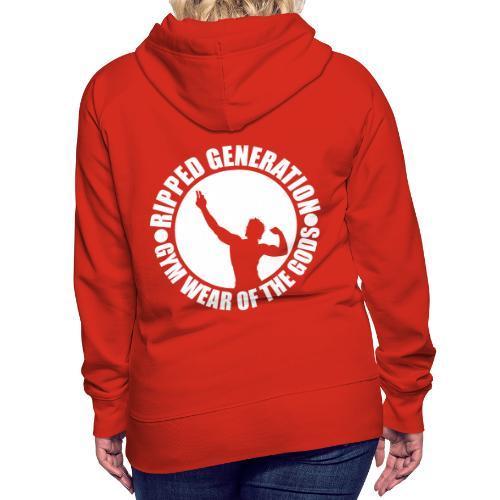 Ripped Generation Gym Wear of the Gods Badge Logo - Women's Premium Hoodie