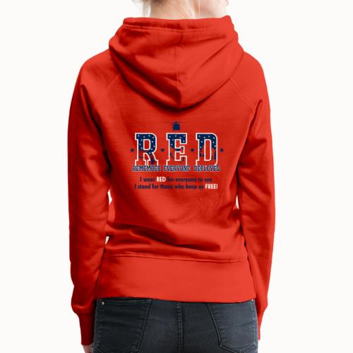RED Friday - I Stand For Those Who Keep Us FREE! - Women's Premium Hoodie
