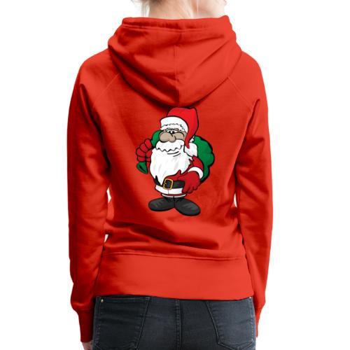 Santa Claus Cartoon Illustration - Women's Premium Hoodie