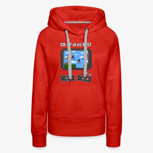 Pixel Art: CO-OP at its BEST - Women's Premium Hoodie