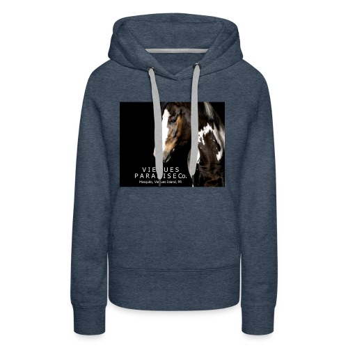 vieques island paradise horse poster - Women's Premium Hoodie