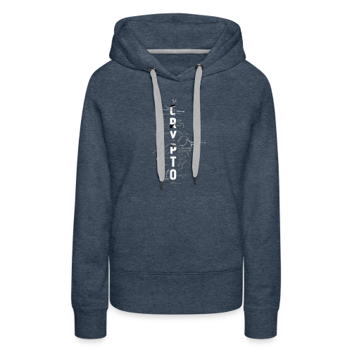 Cryptocurrency t-shirt. Digital blockchain design - Women's Premium Hoodie
