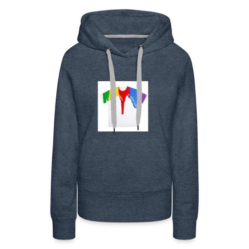 tshirt printing for kids paint design 100683 - Women's Premium Hoodie