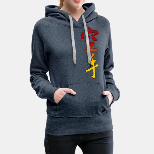 Karate Kanji Red Yellow Gradient - Women's Premium Hoodie