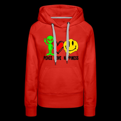 Peace Love Happpiness - Women's Premium Hoodie