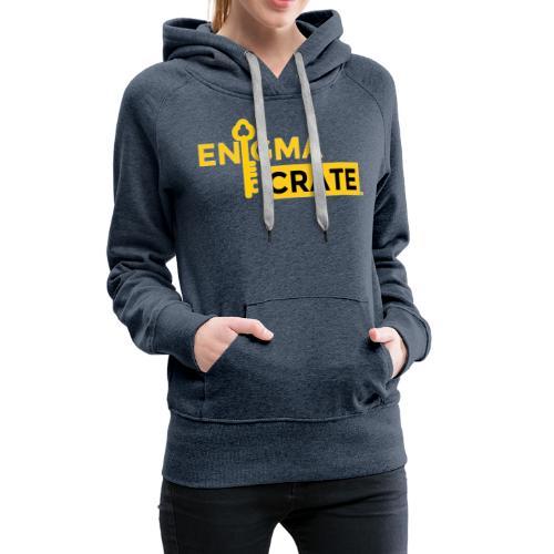 gold on black enigma crate logo - Women's Premium Hoodie